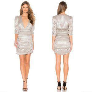 Saylor Madonna Silver Mini Dress
